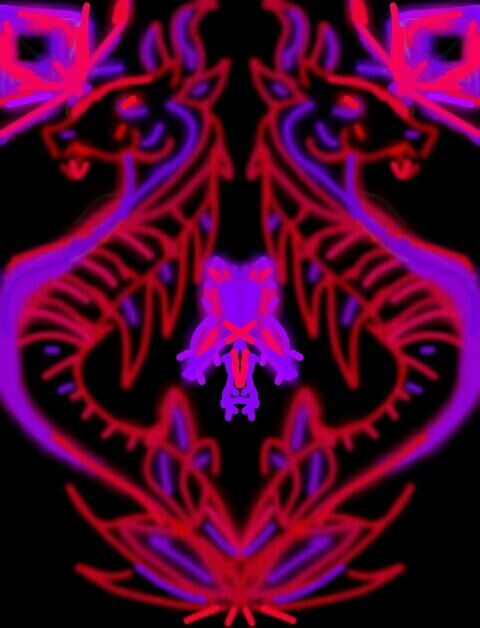Red dragon velvet  #dragon #fantasy #draw   #glowdraw