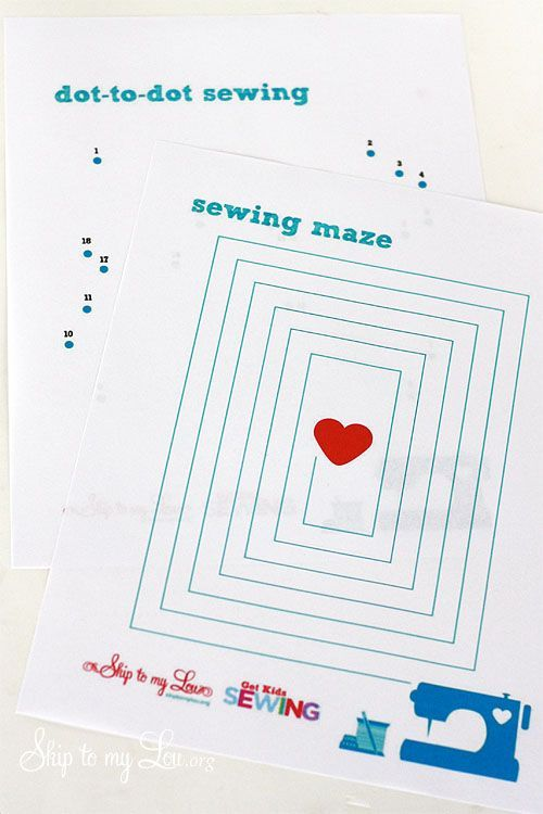 sewing sheets for child sewing practice