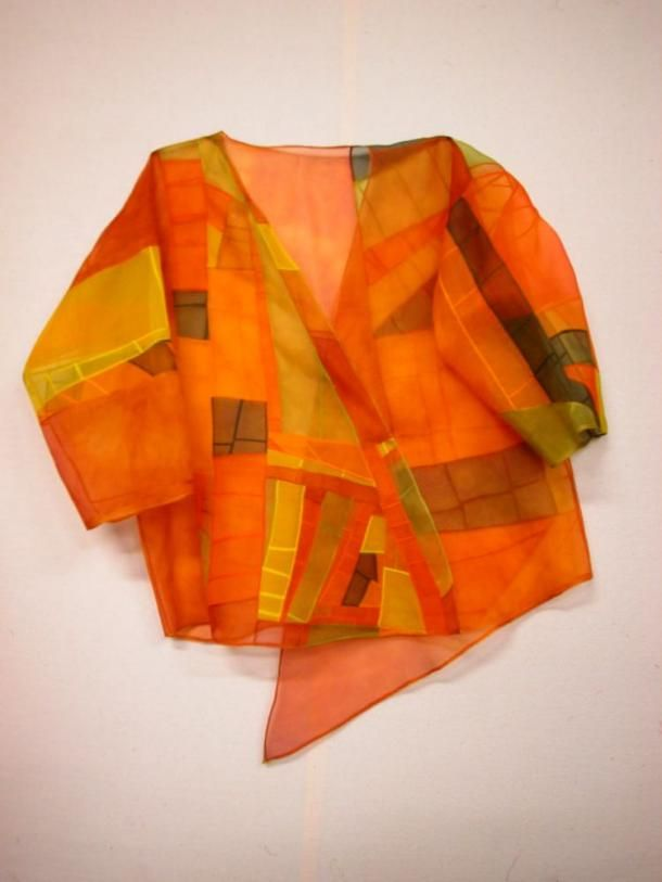 Orange Pojagi Jacket - Truly, I never have a totally original idea. I love this concept, and it looks great.