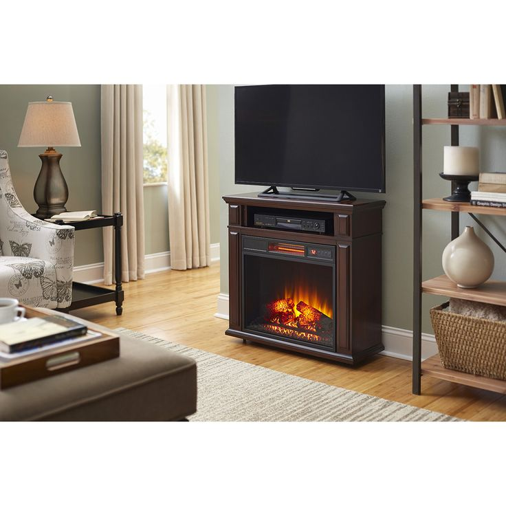 Shop Duraflame 31.5-in W 5,200-BTU Cherry Wood Infrared Quartz Portable Electric  Fireplace - 17 Best Ideas About Duraflame Electric Fireplace On Pinterest