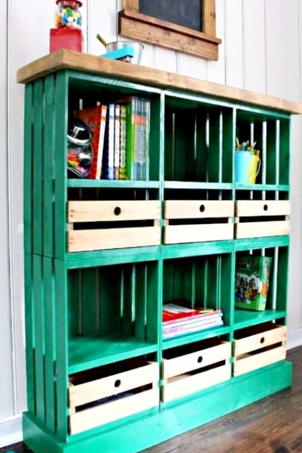 Diy Crate Furniture Ideas Pictures Using Wooden Crates And Milk Crates Bookshelves Diy Crate Furniture Diy Crate Furniture