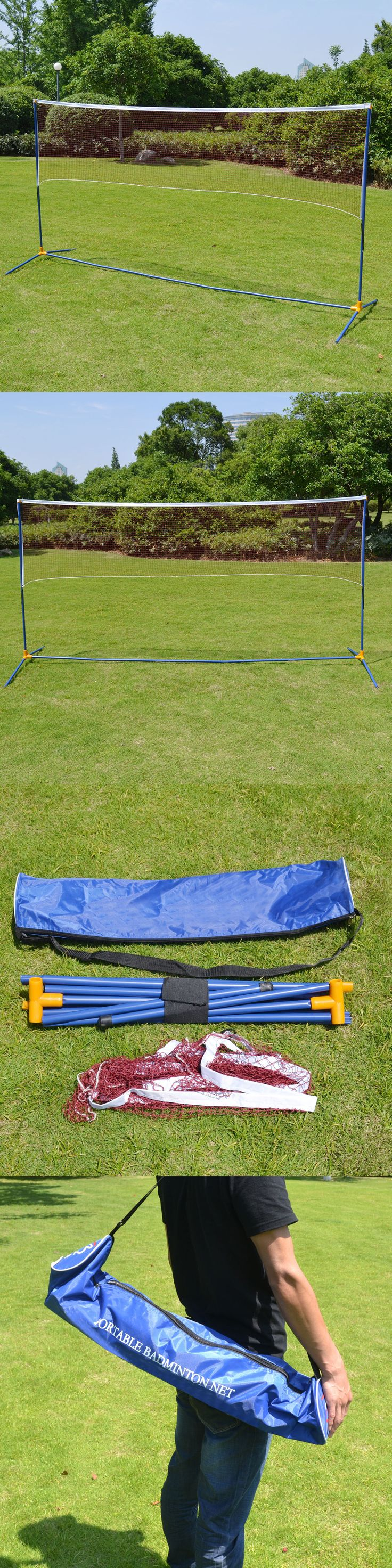 Badminton 106460: Portable Training Beach Volleyball Badminton Tennis Net With Carrying Bag BUY IT NOW ONLY: $45.0