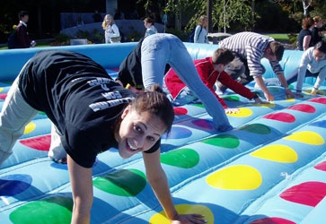 Campus Life Size Twister On Campus Fun Pinterest