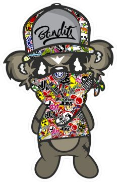 Sticker bomb Jdm Bandit Debout Paul - Stickers JDM & Drift