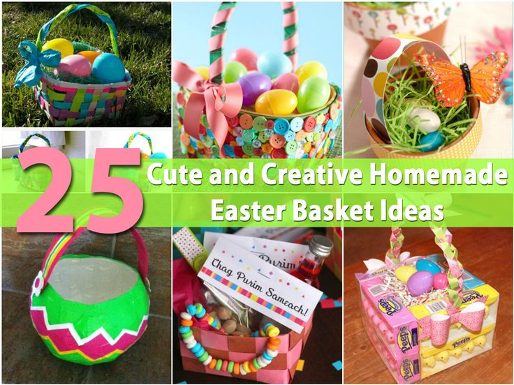 The 25 best homemade easter baskets ideas on pinterest easter 25 cute and creative homemade easter basket ideas negle Choice Image