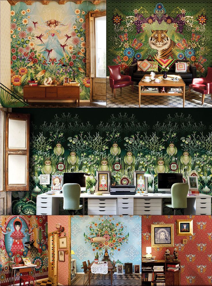 Create a fantasy room: Fairies, tigers or owls. Whatever your dream... Catalina Estrada wallcoverings available from us, mrjonesinteriors.co.uk
