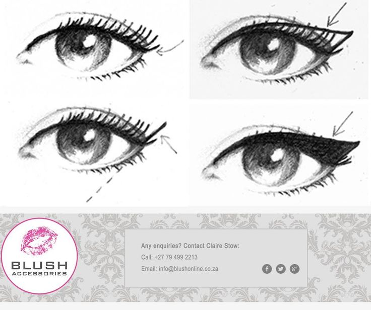 Follow these easy steps to create the perfect cat eye for every occassion.#Blush #make-up #tip