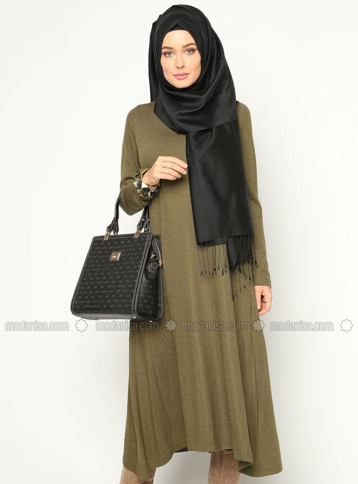 Long gowns - Khaki - Tunics - Modanisa