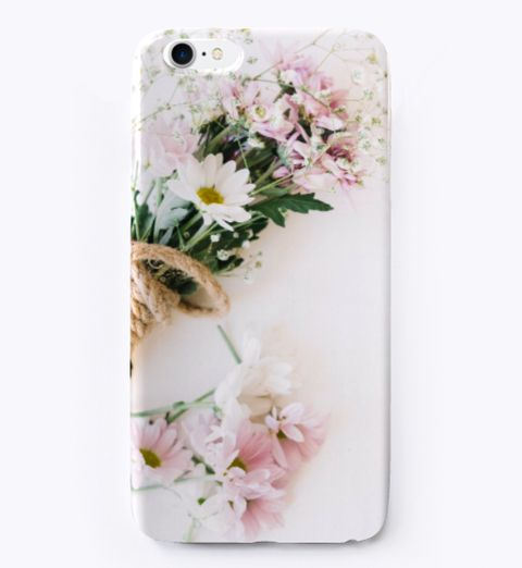 Best I Phone Case   Flower Case ! White T-Shirt Front
