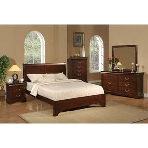 West Haven Full Sleigh Bed in Cappuccino | Nebraska Furniture Mart