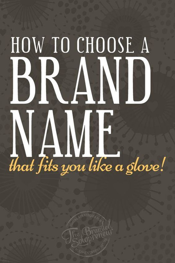 how to choose a brand name that fits you like a glove - Graphic Design Business Name Ideas