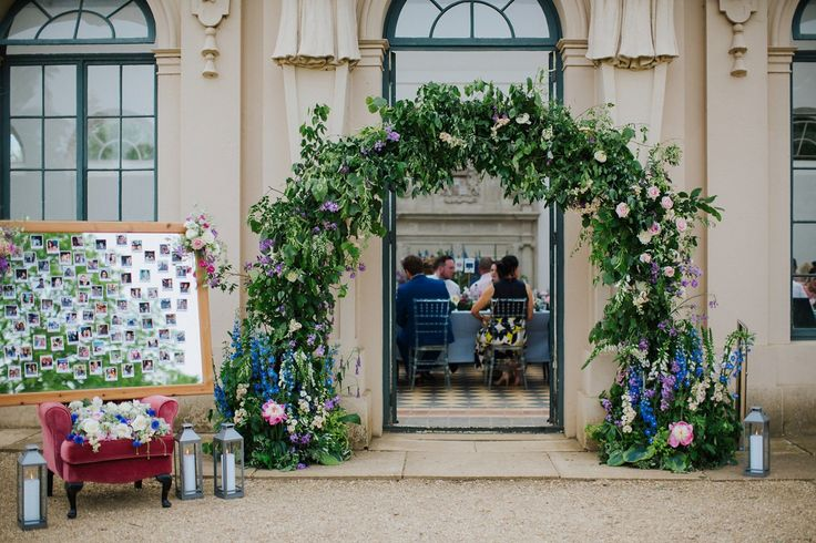 Bringing the Outside In: Flowers Galore for a Bride in a Lace Dress and Gold Shoes | Love My Dress® UK Wedding Blog | Wedding Planned by Pudding Bridge