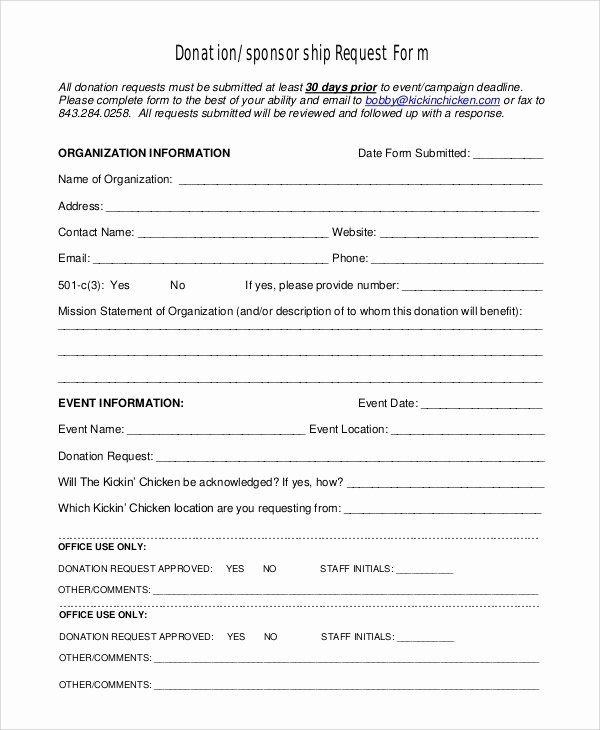 Donation Form Template Free Inspirational 10 Sample Donation Request Forms Pdf Word Donation Request Form Donation Request Donation Form