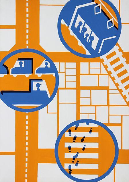2015年度 多摩美術大学 情報デザイン学科 現役合格者再現作品:色彩構成