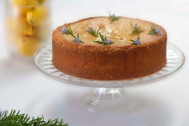 Lemon and rosemary polenta cake: http://gustotv.com/recipes/dessert/lemon-rosemary-polenta-cake/