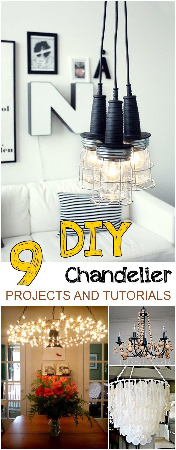 9 DIY Chandelier Projects and Tutorials