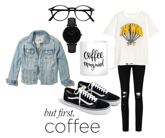 """Coffee on my mind"" by szlzsnb on Polyvore featuring Boohoo, Hollister Co., J.Crew and CLUSE"