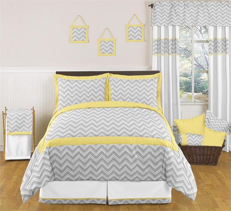 Zig Zag Yellow And Gray Chevron Bedding Set By Sweet Jojo Designs Http