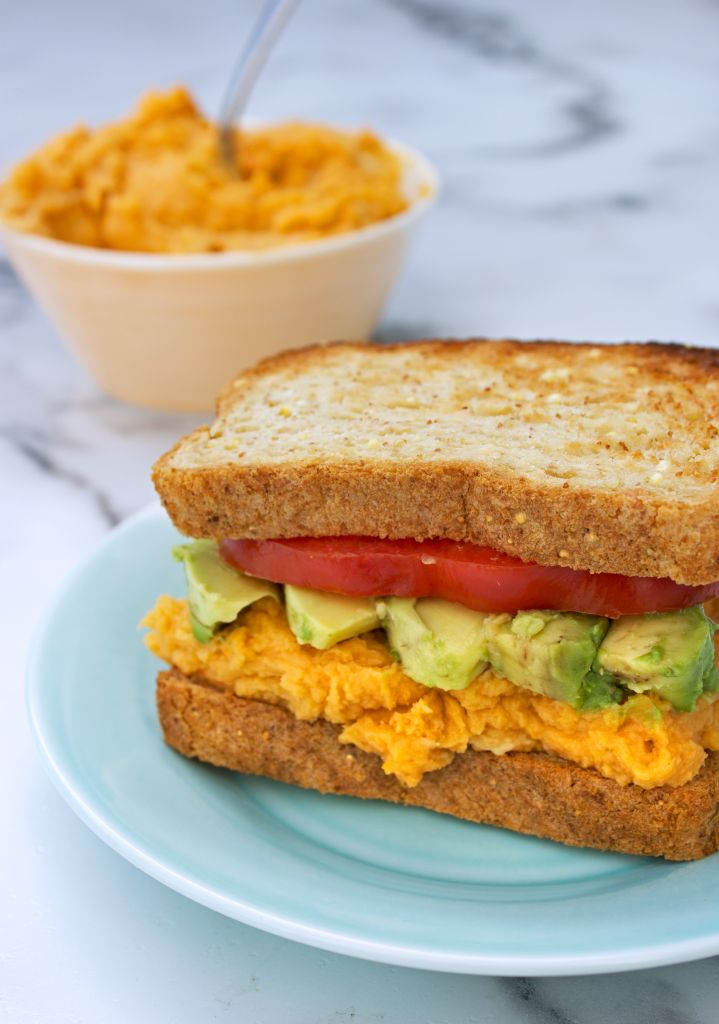 Sweet Potato Hummus Sandwich