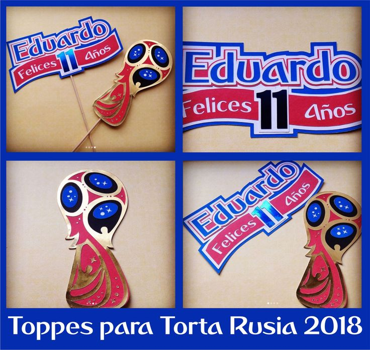 Toppes para decorar Torta con Motivo del Mundial de Futbol Rusia 2018!!!!