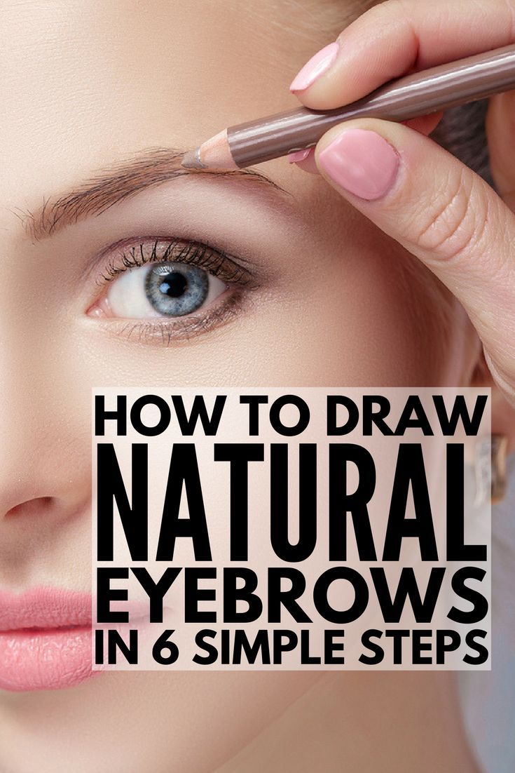 How to draw eyebrows naturally easy 6 step by step tutorials for beginners to