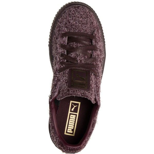 Puma Women's Suede Creepers Elemental Casual Sneakers from Finish Line... ❤ liked on Polyvore featuring shoes, sneakers, creeper shoes, suede shoes, suede leather shoes, creeper sneakers and suede trainers