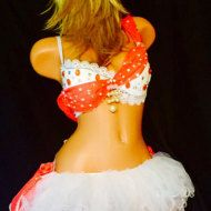 Made to order. Bra and tutu set. With LED lights for an extra charge.