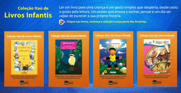 Itaú Criança, coleção de livros grátis infantis 000001