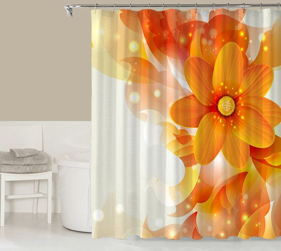 Floral Shower Curtain Contemporary Bathroom Decor By CocosDecor Ideas For T