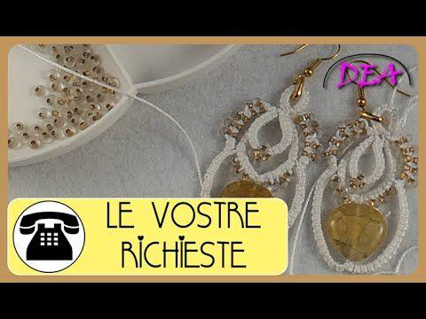 Orecchini di Archi, Cerchi, inserimento di perline a coppie e a quartetto.