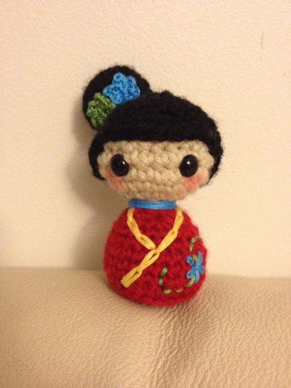 Handmade crocheted Japanese inspired amigurumi kokeshi ...