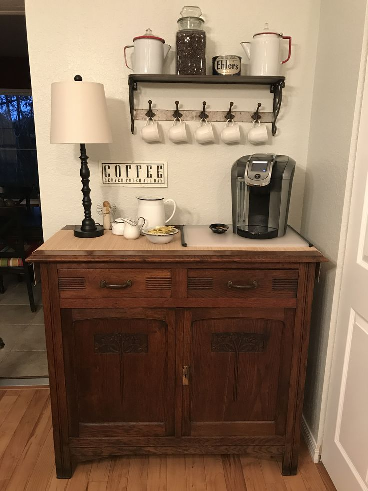 Best 25 coffee stations ideas on pinterest coffe bar for Coffee station furniture