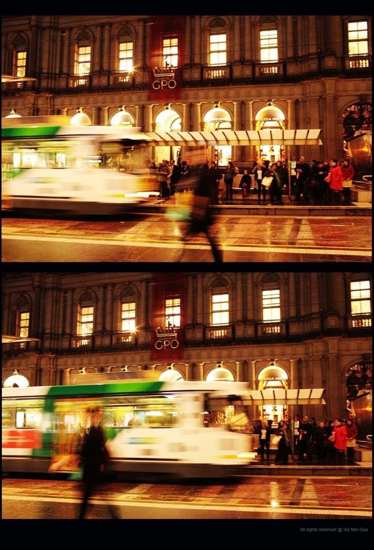 Melbourne. Tram rush.