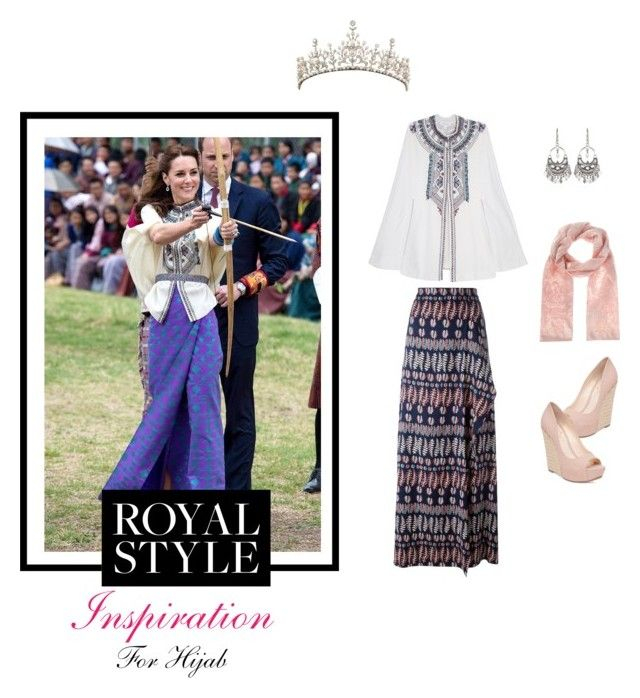 """Get The Look of the Duchess ~ for hijab"" by chevy-mona-adiwar on Polyvore featuring Tory Burch, Paul & Joe, Jessica Simpson, Coast and Satya Jewelry"