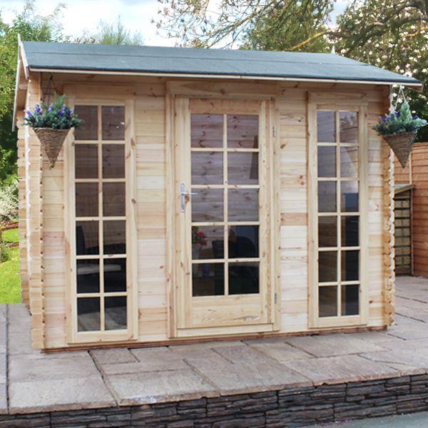 3m x 25m waltons wollaton log cabin on walton garden buildings