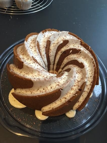 Still playing with Bundt cake recipes. V happy with this one (batter was delish) but as yet to sample properly