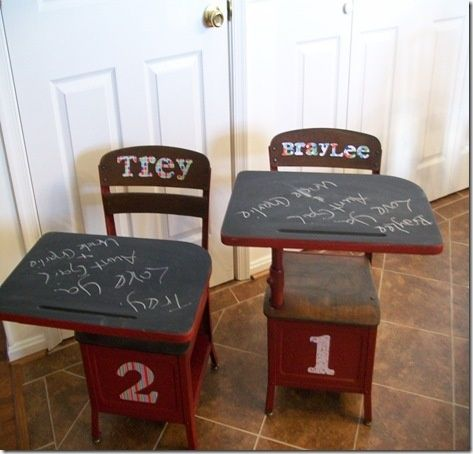 redoing an old schooldesk | Redoing Old School Desk. I have one. Can't wait to ... | Toy room