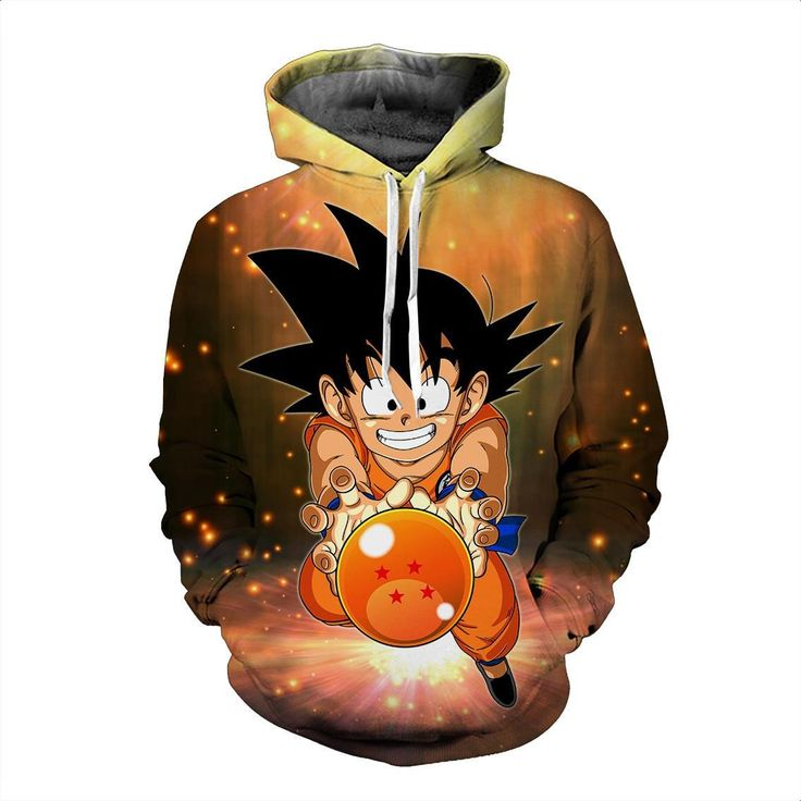 Dragon Ball Z Kid Goku 4 Star Ball Brown Hoodie. 100% Cotton and Polyester blend, custom made sublimation printed technique and hand sewn hoodies, t-shirts, and long sleeves clothing.   For our 3D clothing, unless there is a picture on the back for our product images, all of our 3D clothing are printed front and back with the same image.                 FREE Shipping  NOT SOLD IN STORES          Gender: Unisex  Material: Cotton, Polyester Spandex Blend Machine Washable and Dryer Safe…