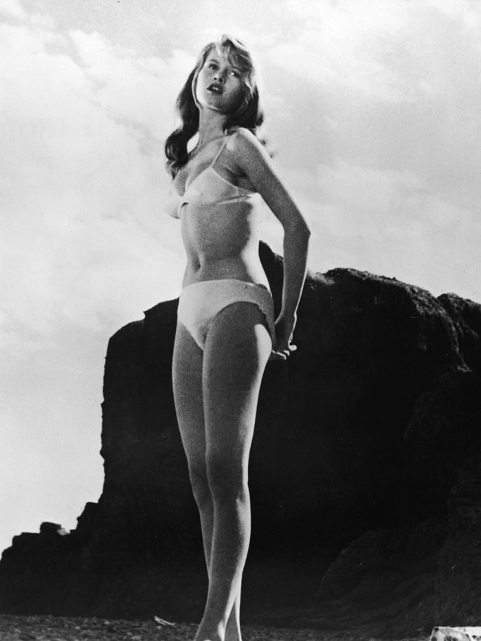 Brigitte Bardot wears bikini in And God Created Woman