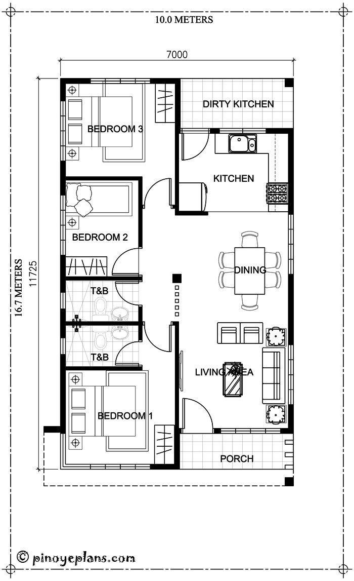 Single Storey 3 Bedroom House Plan Amazing Architecture Magazine Bungalow Floor Plans One Storey House House Floor Design
