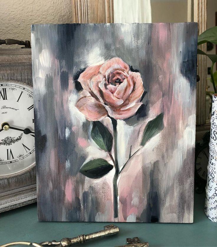 I think I've painted enough for today. Time to binge read #art #artist #flower #flowerpainting #flowerart #artgram #instaart…