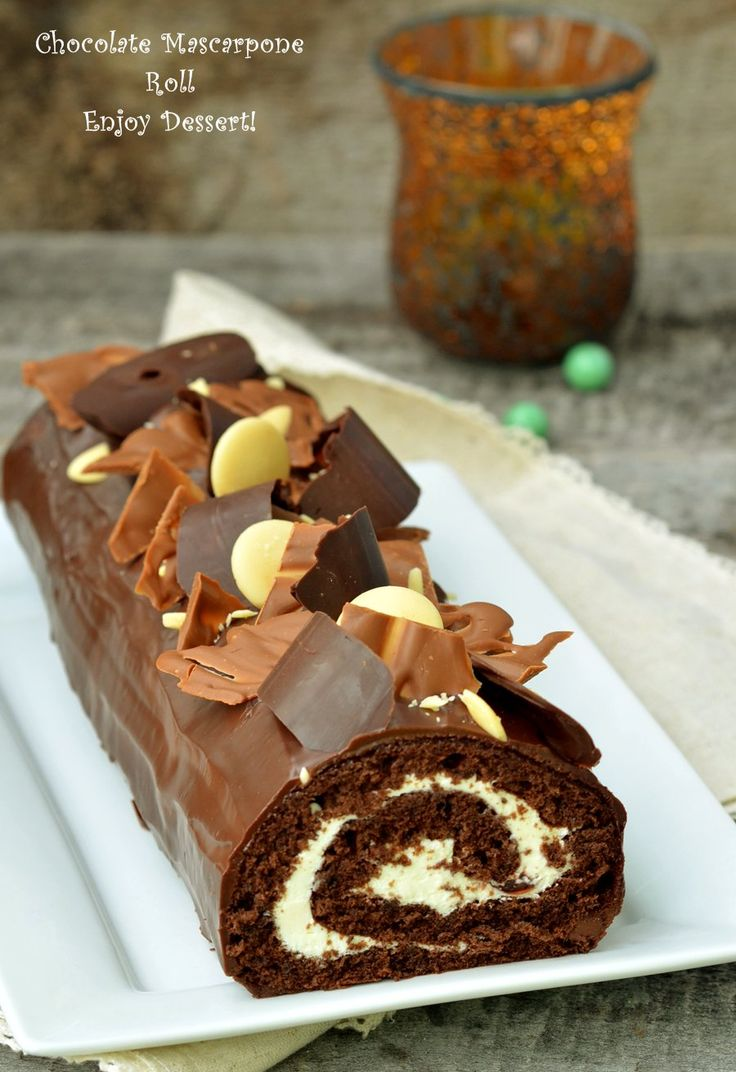 Chocolate Mascarpone Sponge Roll