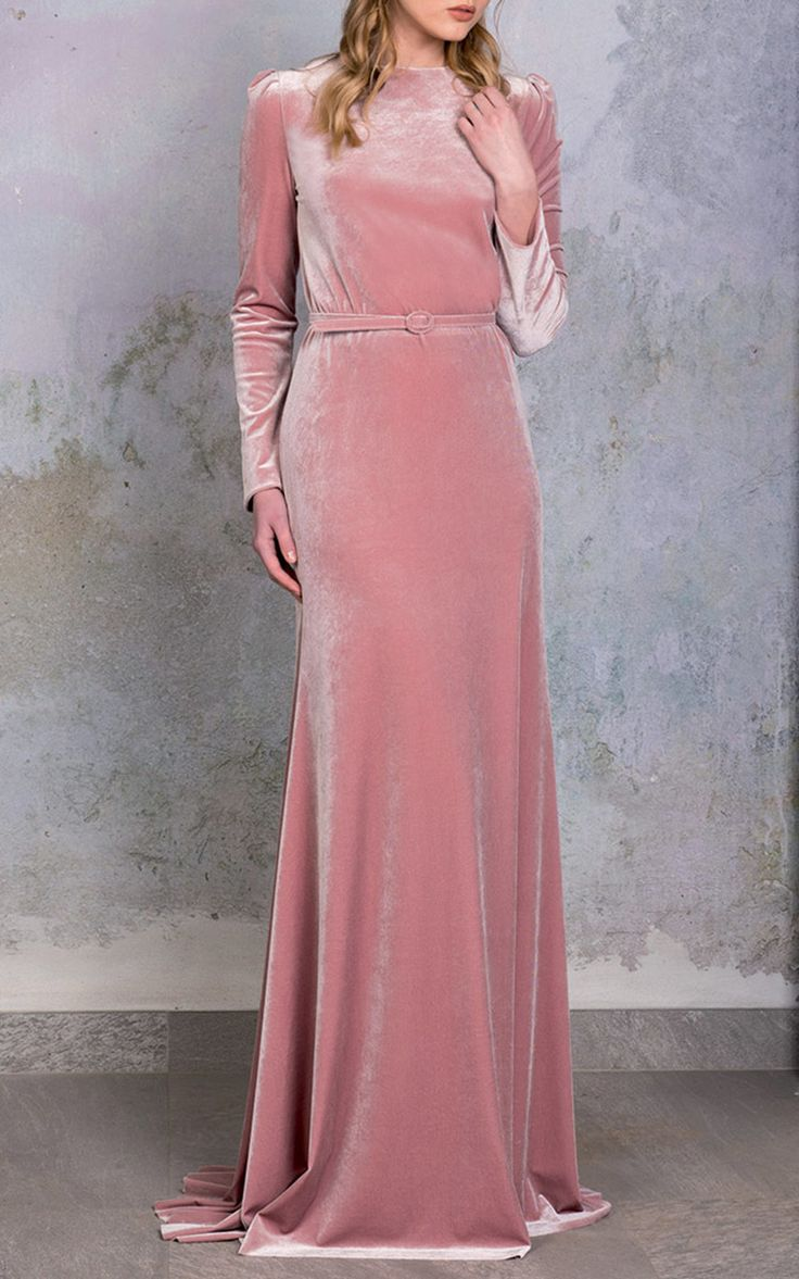 Image result for pink velvet dress