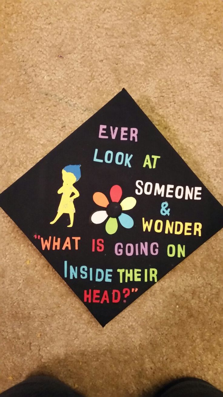 Inside Out graduation cap