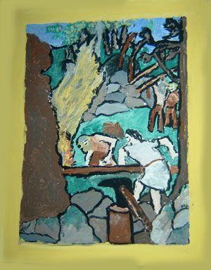 Sammon taonta, Kalevalan 10. runo