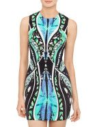Michael Lo Sordo Print Semi Fitted Mini Shift Dress $599.00 #davidjones #dress #shop #fashion #style #party #love #colour #print #designer