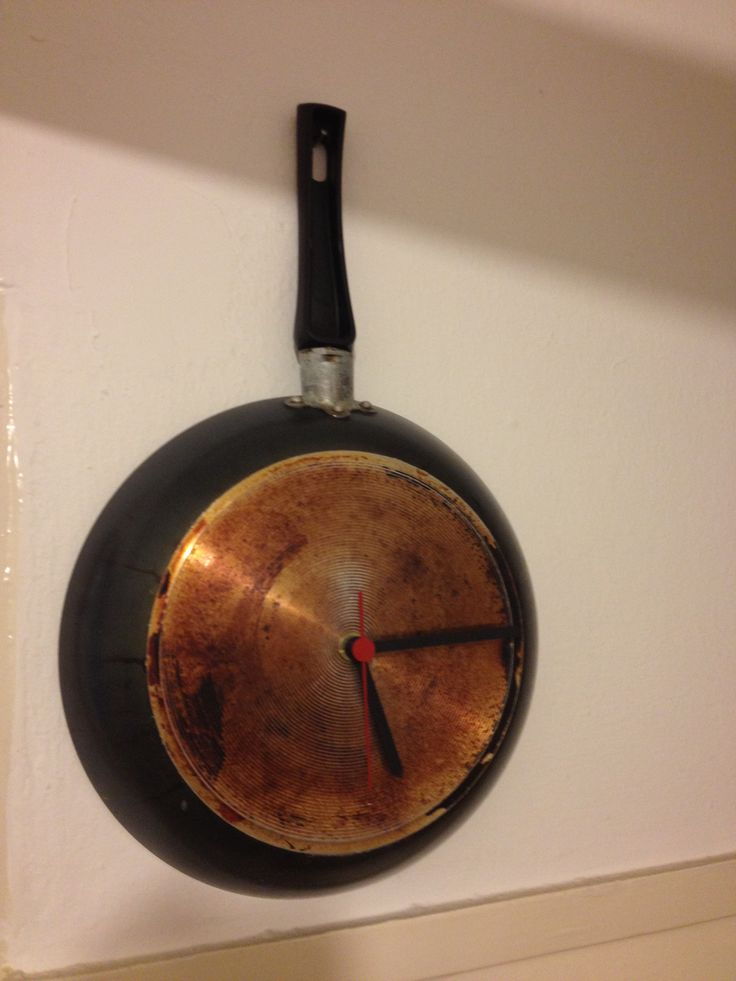 an old pan became clock for my kitchen....