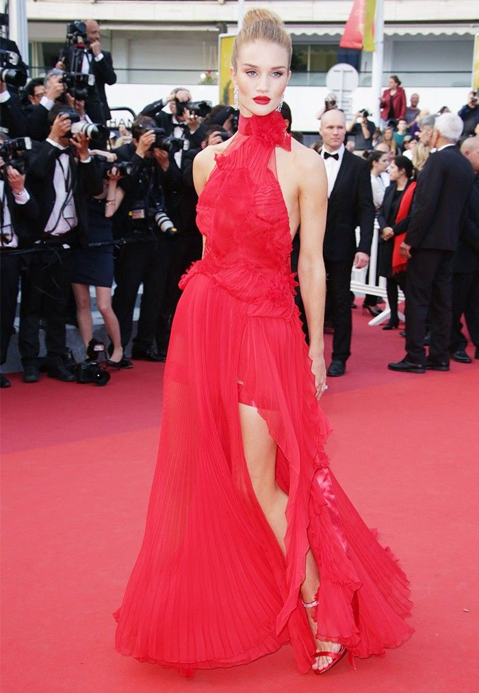 Who could deny the power of a red dress, red lip and red carpet all together?