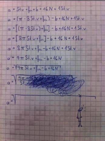 Neulich in der Mathearbeit