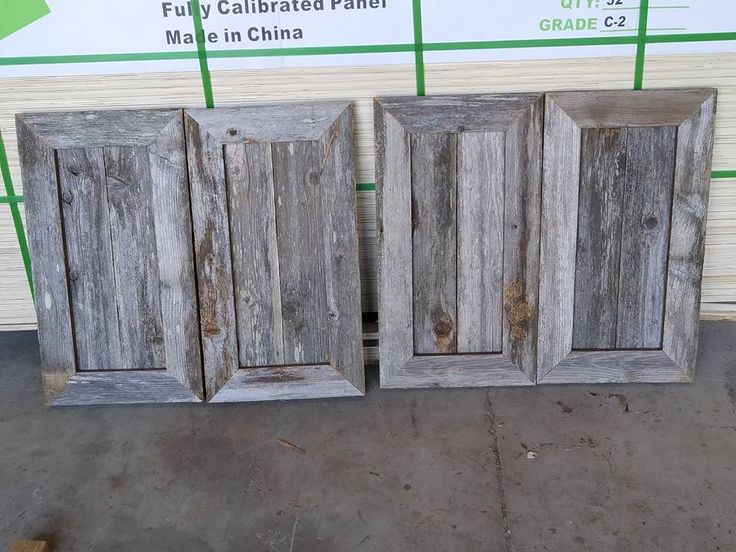 cedar fence pickets turned into cabinet doors
